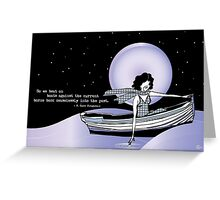 1920s Gatsby Flapper Girl Sea Boat Quote Greeting Card