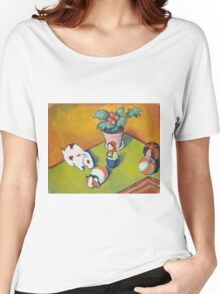 Vintage famous art - August Macke - Little Walter S Toys Women's Relaxed Fit T-Shirt
