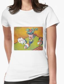 Vintage famous art - August Macke - Little Walter S Toys Womens Fitted T-Shirt