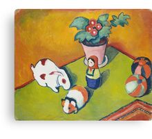 Vintage famous art - August Macke - Little Walter S Toys Canvas Print