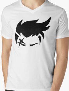 Zarya Black Mens V-Neck T-Shirt