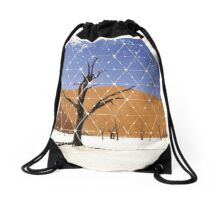 Nature and Geometry - The Landscape Drawstring Bag