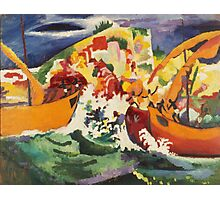Vintage famous art - August Macke - Native Sea Fight Photographic Print