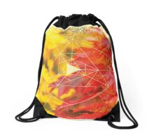 Nature and Geometry - Autumn Leaves Drawstring Bag