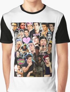 Dylan O'Brien Collage Graphic T-Shirt