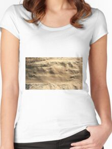 The Side of a Sand Dune Women's Fitted Scoop T-Shirt