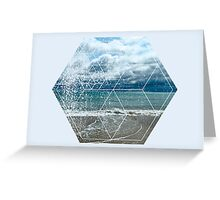Nature and Geometry - The beach Greeting Card