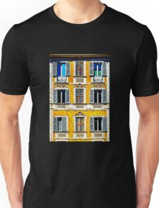 Old italian palace with traditional windows Unisex T-Shirt