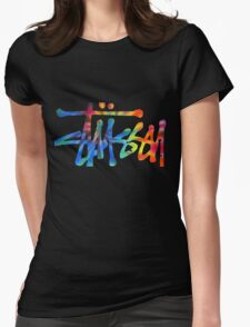 Stussy Colorful Logo Womens Fitted T-Shirt