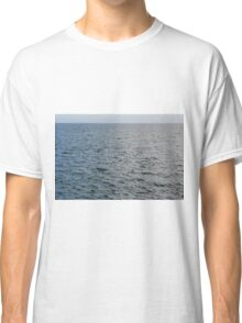 Natural background the calm blue sea. Classic T-Shirt