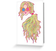 Psychedelic Luna Lovegood Greeting Card