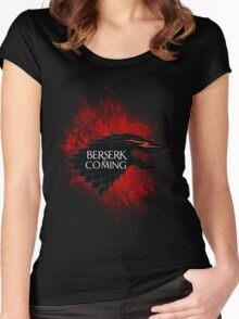 Berserk is Coming Blood Splatter Women's Fitted Scoop T-Shirt
