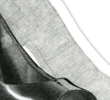 Black Fashion High Heel Shoe Illustration Sticker