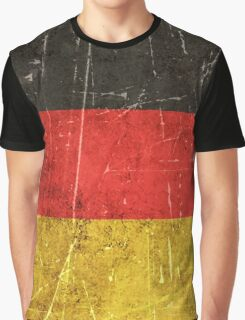 Vintage Aged and Scratched German Flag Graphic T-Shirt