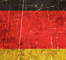 Vintage Aged and Scratched German Flag Sticker