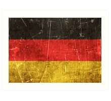 Vintage Aged and Scratched German Flag Art Print