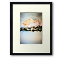 Lakes and Mountains II Framed Print