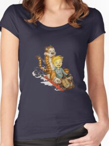 Calvin And Hobbes Speed Women's Fitted Scoop T-Shirt