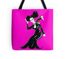 The Black Goth Girl- Pink Tote Bag