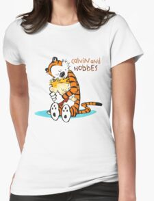 Calvin and hobbes Hugs Womens Fitted T-Shirt