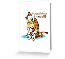 Calvin and hobbes Hugs Greeting Card