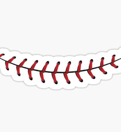 Baseball Lace Background 4 Sticker