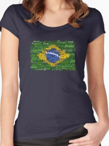 Brasil Textual Women's Fitted Scoop T-Shirt