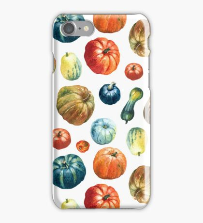 Colourful pumpkins  pattern iPhone Case/Skin