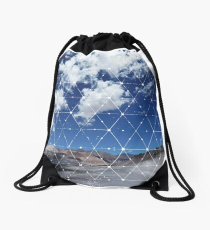 Nature and Geometry - Landscape Drawstring Bag