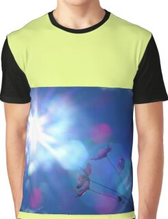 Hope: Beautiful flowers and Sun flare Graphic T-Shirt