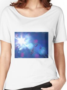 Hope: Beautiful flowers and Sun flare Women's Relaxed Fit T-Shirt