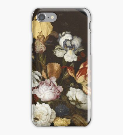 Vintage famous art - Balthasar Van Der Ast  - Still Life Of Flowers In A Glass Vase 1624  iPhone Case/Skin