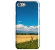 Fields of Italy in a spring day iPhone Case/Skin
