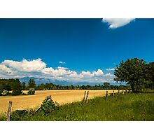 Fields of Italy in a spring day Photographic Print