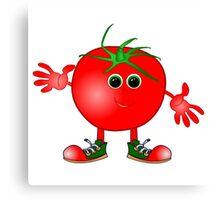 happy tomato Canvas Print