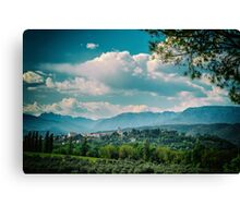 An old village in the italian countryside Canvas Print