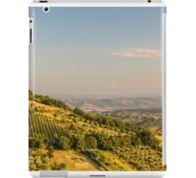 sunset in the italian countryside iPad Case/Skin