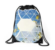Nature and Geometry - Yellow Flowers Drawstring Bag