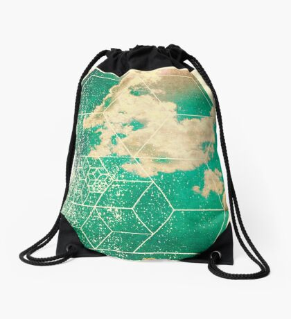 Nature and Geometry - The Clouds 2 Drawstring Bag