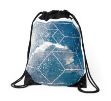 Nature and Geometry - The Clouds Drawstring Bag