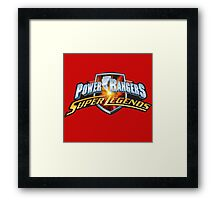 mighty mhorpin power rangers super legend Framed Print