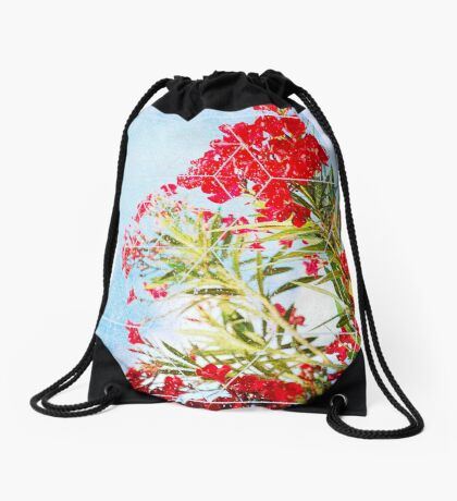 Nature and Geometry - Flowers Drawstring Bag