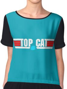 You can be my wing cat Chiffon Top