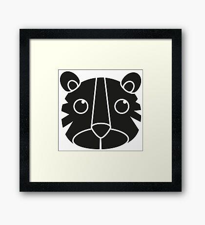 cute animal in black  Framed Print
