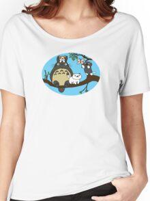 Totoro X Neko Atsume Women's Relaxed Fit T-Shirt