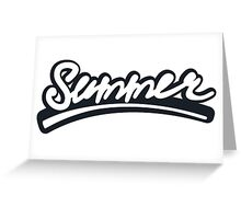 Graffiti of summer with black   Greeting Card