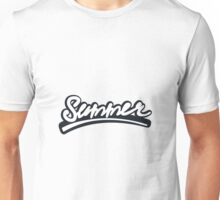 Graffiti of summer with black   Unisex T-Shirt