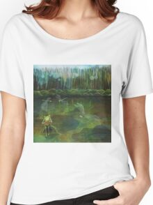 Frog on his Rock Women's Relaxed Fit T-Shirt