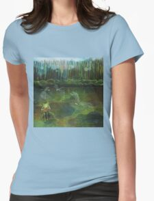 Frog on his Rock Womens Fitted T-Shirt