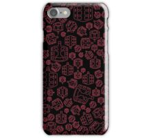 Cycling on Red Pedals iPhone Case/Skin
